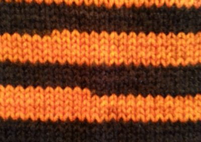 23 ORANGE BLACK STRIPE