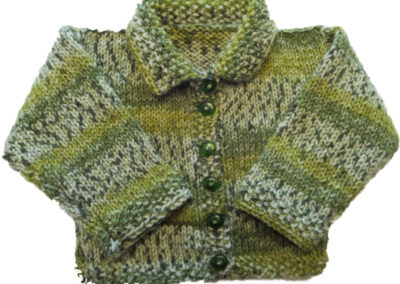 BABY SWEATER GREEN ENCORE