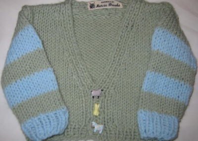 BABY SWEATER V NECK BLUE