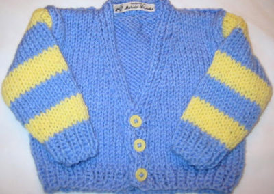BABY SWEATER V NECK BLUE YELLOW