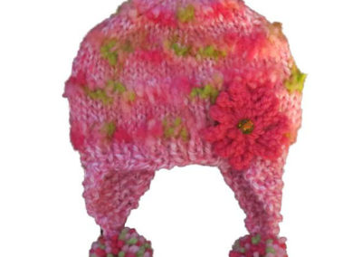 KNIT HAT PINK