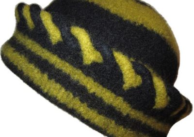 OLIVE BLACK FELTED HAT ONLY