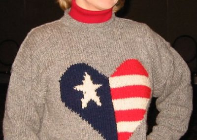 SWEATER HEART OF AMERICA