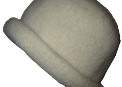 WINTER WHITE ROLL BRIM FELTED HAT