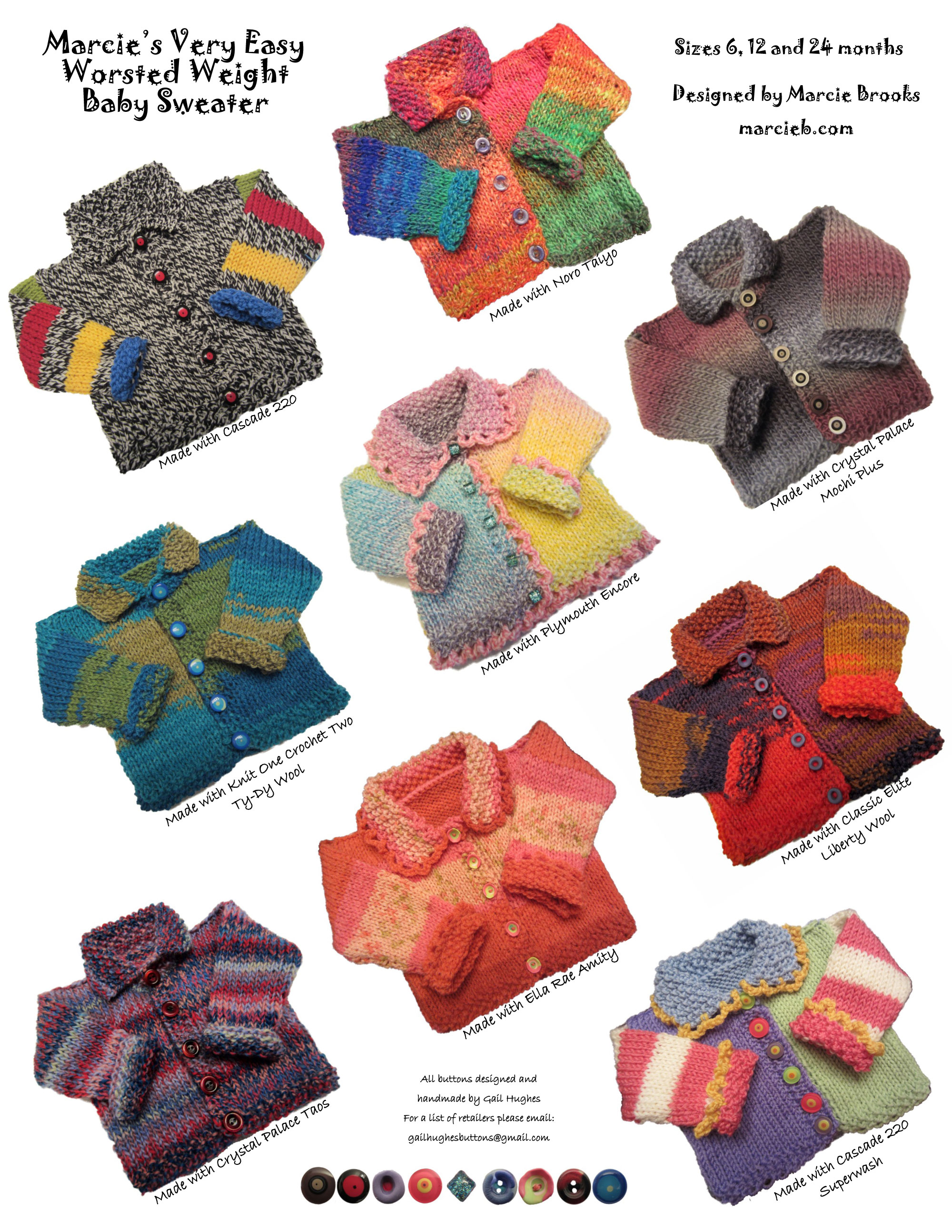Sweater Patterns | Marcie B - Hand Knitting and Patterns